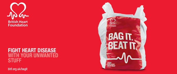 British Heart Foundation Bag It. Beat. It.