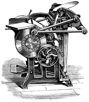Antique Newspaper Printing Press - iwate-kokyo